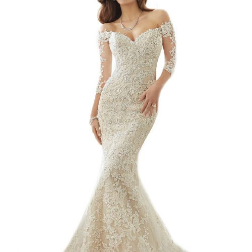 Mermaid Wedding Dresses Off Shoulder Womens