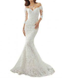 Mermaid wedding White-half Sleeve