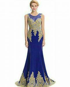 Strapless Long Dresses bleu 1