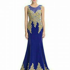 Strapless Long Dresses bleu 1