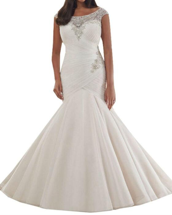 Tulle Bridal Dresses Mermaid Wedding Dress