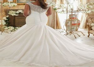 Tulle Bridal Dresses Mermaid Wedding Dress back
