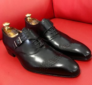 Formal zone buckle and laces shoes Black