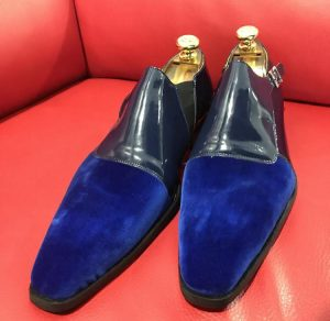 Formal zone semi dain shoes buckle blue
