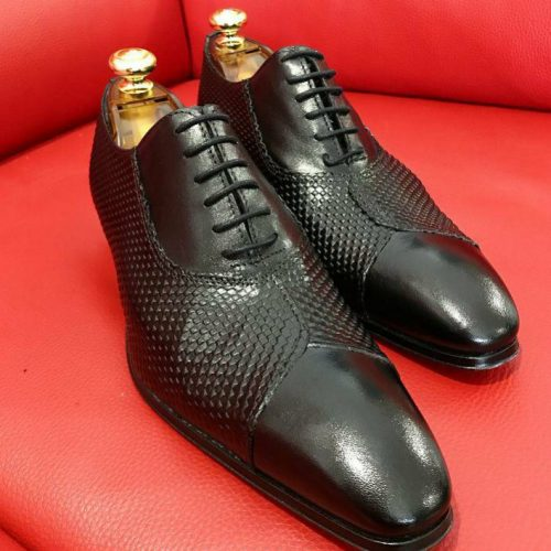 Formal zone shoes laces mat-shaped Black