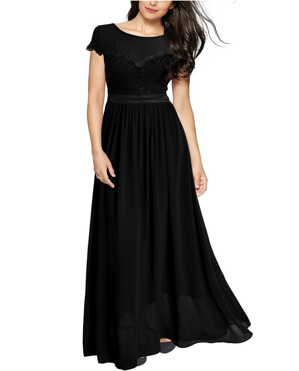 Vintage Cocktail Dresses Lace Long Women Dress - Fashion Made in Italia