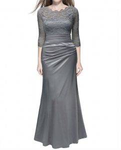 Vintage Woman Long Maxi Evening Dress