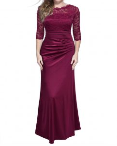 Vintage Woman Long Maxi Evening Dress Red