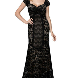 Woman Dress Long Lace Maxi Cocktail vintage