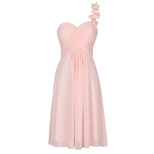 Wedding Dresses or Evening Lace Chiffon Dress light pink