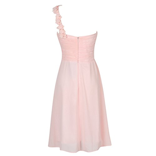 Wedding Dresses or Evening Lace Chiffon Dress light pink back