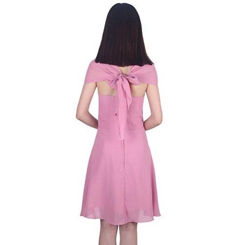 Wedding Dresses or Evening Lace Chiffon Dress back