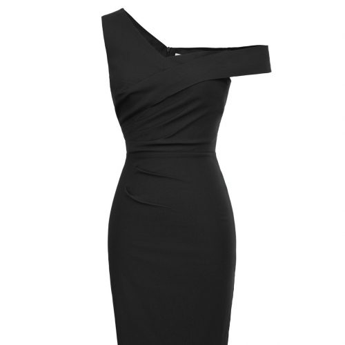 Pencil sexy stretch dress from rockabilly dress black