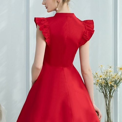 Cocktail Dress Swing with Sleeves Ca back