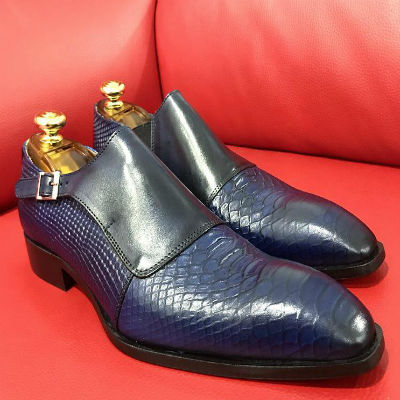 Formal zone semi croco shoes wiht buckle 1