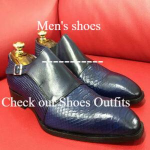 Formal zone semi croco shoes wiht buckle 3