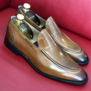 Mocassin zone simple italian style Brown side