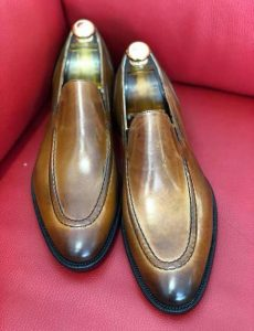 Mocassin zone simple italian style Brown