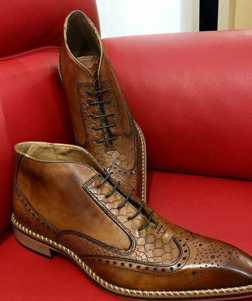 Italian Boots calu brown