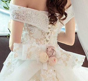 Vestito da sposa coda lunga 2