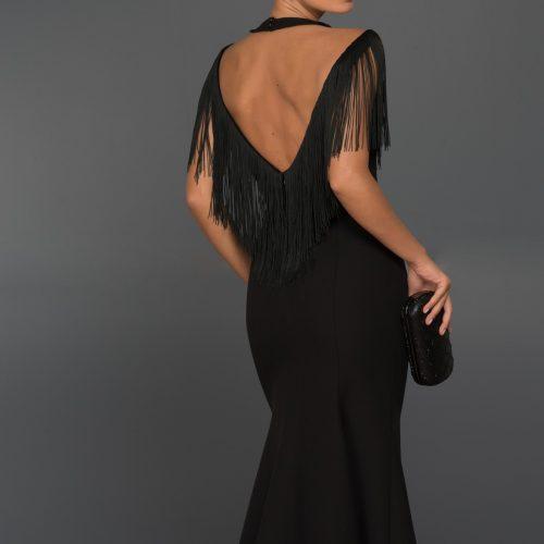 Long Abi Black Evening Dress 1