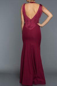 Long Abi Plum Evening Dress 1