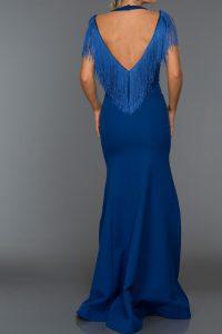 Long Abi Sax Blue Evening Dress 1
