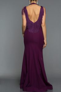 Long Abi Violet Evening Dress 1