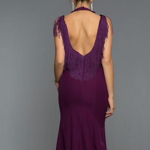 Long Abi Violet Evening Dress 1