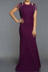 Long Abi Violet Evening Dress